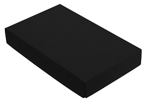 Folding Carton, This Top - That Bottom, Lid, 8 oz., Rectangle, Black, QTY/CASE-50
