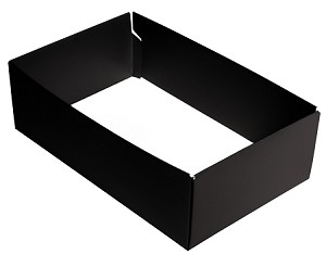 BY THE PIECE, Folding Carton,  This Top - That Bottom Base, 8 oz., Rectangle, Black, Double-Layer