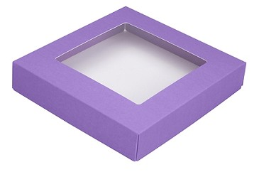 BY THE PIECE, Folding Carton,  This Top - That Bottom Window Lid, 8 oz., Square, Lavender