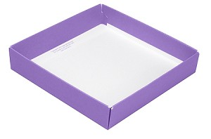 BY THE PIECE, Folding Carton, This Top - That Bottom Base, 8 oz., Square, Lavender, Single-Layer