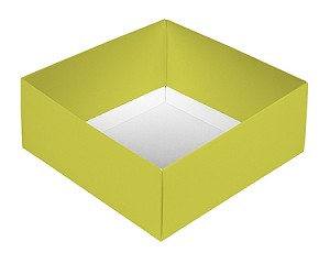 BY THE PIECE, Folding Carton, This Top - That Bottom Base, 8 oz., Square, Double-Layer, Green