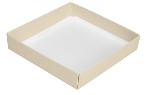 Folding Carton, This Top - That Bottom, Base, 8 oz., Square, Pearlescent, Single-Layer, QTY/CASE-50
