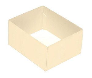 BY THE PIECE, Folding Carton, This Top - That Bottom Base, 4 oz., Rectangle, Pearlescent, Double-Layer