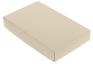 BY THE PIECE, Folding Carton,  This Top - That Bottom Lid, 8 oz., Rectangle, Pearlescent