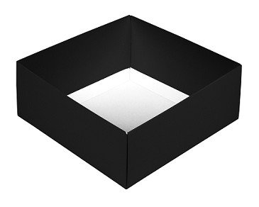 BY THE PIECE, Folding Carton,  This Top - That Bottom Base, 8 oz., Square, Black, Double-Layer