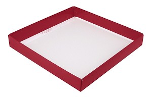 BY THE PIECE, CLOSEOUT Folding Carton, Base, 16 oz., Square, Single-Layer, Red
