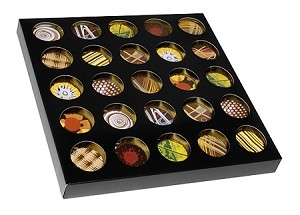 BY THE PIECE, Folding Carton, Artisan Series Box, 25-Piece, Square, Black