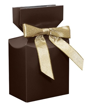 Folding Carton, CLOSEOUT, Pleated Top Gift Box, Brown, QTY/CASE-50