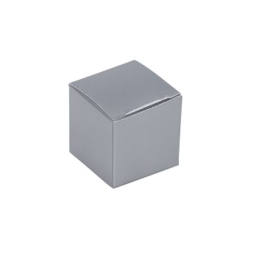Folding Carton, Anytime Favor Box, 1-Piece, Sterling Silver, QTY/CASE-50