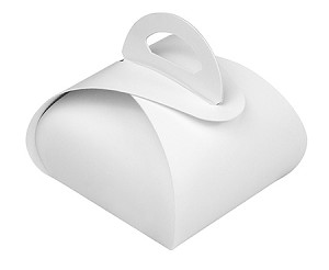 Folding Carton, Favor Box, 1-Piece, Standard, White, QTY/CASE-50