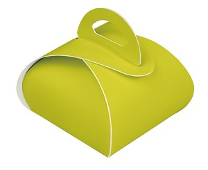 BY THE PIECE, Folding Carton, Favor Box, Standard, Chartreuse