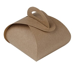 Folding Carton, Favor Box, 1-Piece, Kraft, QTY/CASE-50
