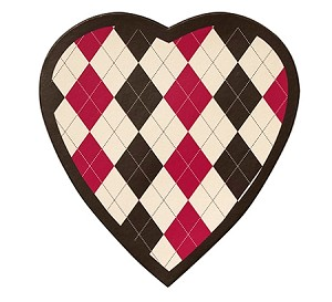 Heart Box, Argyle, 8 oz., QTY/CASE-24