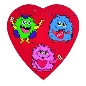 Heart Box, Monster, 4 oz., QTY/CASE-48