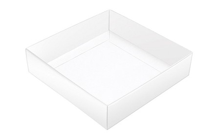 This Top - That Bottom, Base, Square, White, Single-Layer, 5-1/2 x 5-1/2 x 1
