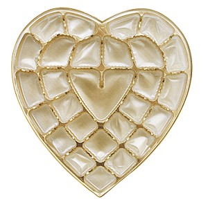 BY THE PIECE, Heart Tray, Plastic, Gold, 1 lb., 27 Cavity