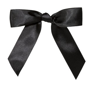 "Pre-Tied Bows with Twist Ties, 4"", Black Onyx, QTY/CASE-100"