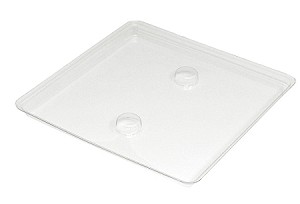 Tray Guard, Square, Clear, 8 oz., Single Cavity, QTY/CASE-50