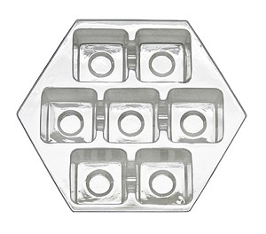 BY THE PIECE, Tray, Hexagon, Clear, 7 Cavity