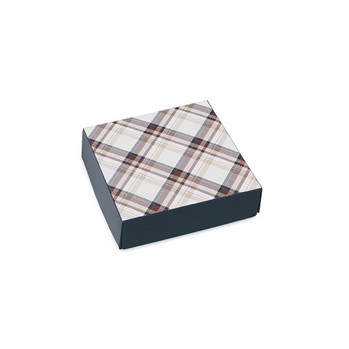 Autumn Plaid, Decorative Gift Box, 3-1/2 x 3-1/2 x 1