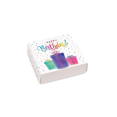 Birthday Present, Decorative Gift Box, 3-1/2 x 3-1/2 x 1