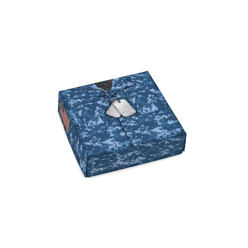 Blue Military, Decorative Gift Box, 3-1/2 x 3-1/2 x 1