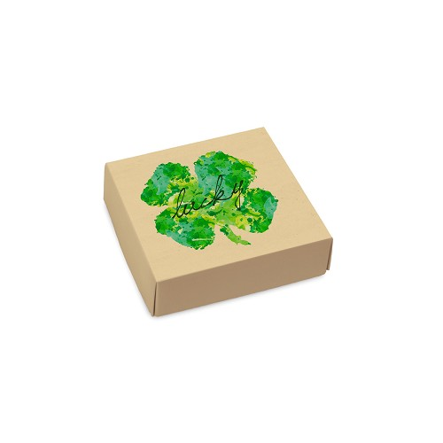Lucky, Decorative Gift Box, 3-1/2 x 3-1/2 x 1