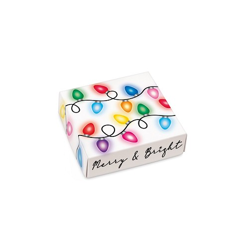 Merry and Bright, Decorative Gift Box, 3-1/2 x 3-1/2 x 1
