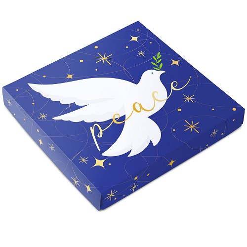 Peace on Earth, Decorative Gift Box, 7-1/2 x 7-1/2 x 1