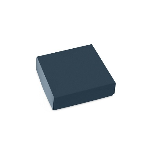 This Top - That Bottom, Lid, Square, Slate Blue, 3-1/2 x 3-1/2 x 1