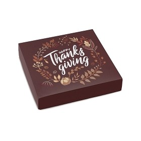 BY THE PIECE, Happy Thanksgiving, Decorative Gift Box, 5-1/2 x 5-1/2 x 1