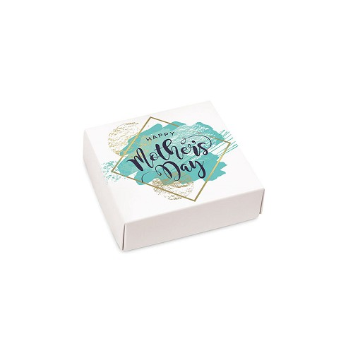 Mother's Day, Turquoise, Decorative Gift Box, 3-1/2 x 3-1/2 x 1