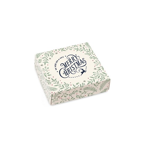 Very Merry Christmas, Cream, Decorative Gift Box, 3-1/2 x 3-1/2 x 1