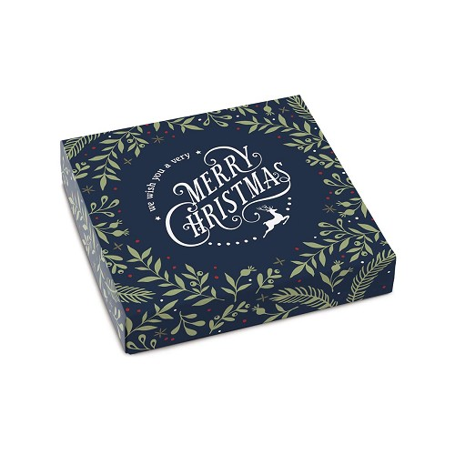 Very Merry Christmas, Navy, Decorative Gift Box, 5-1/2 x 5-1/2 x 1
