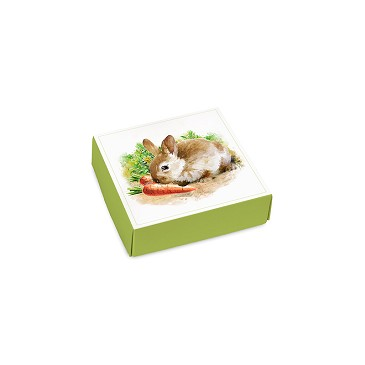 BY THE PIECE, Folding Carton, Lid, 3 oz., Petite, Square, Easter Garden