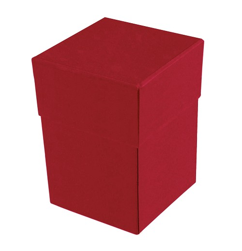 BY THE PIECE, Rigid Set-up Box, Cube, 4-Tier, Soft Touch Finish, Red