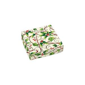 BY THE PIECE, Folding Carton, Lid, 3 oz., Petite, Square, Hollyday