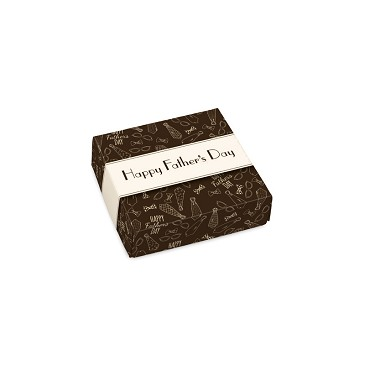 BY THE PIECE, Folding Carton, Lid, 3 oz., Petite, Square, Happy Father's Day