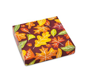 Folding Carton, Lid, 8 oz., Square, Leaves box, QTY/CASE-50