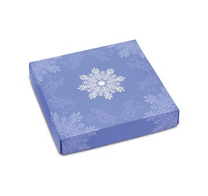 BY THE PIECE, Folding Carton, Lid, 8 oz., Square, Soft Snowflake Box