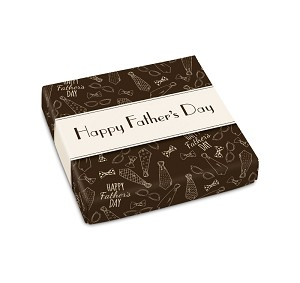 Folding Carton, Lid, 8 oz., Square, Happy Father's Day, Qty/Case-50