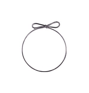 Stretch Loops, Silver, 8 in., QTY/CASE-50