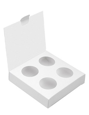 BY THE PIECE, Folding Carton, Artisan Series Box with Flip Lid, 4-Piece, White