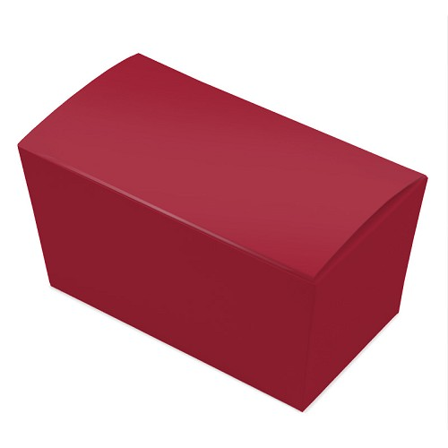 BY THE PIECE, Ballotin Box, Red, 6-3/4 x 3-3/4 x 3-1/2