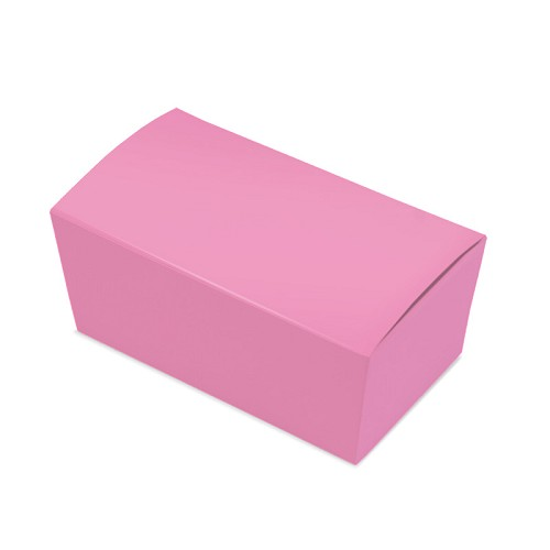 BY THE PIECE, Ballotin Box, Pink,  6 x 3-1/2 x 2-1/2