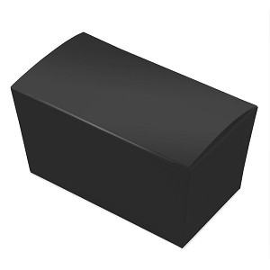 "BY THE PIECE, Folding Carton, Ballotin Box, Black, 6-3/4"" L x 3-3/4"" W x 3-1/2"" D"