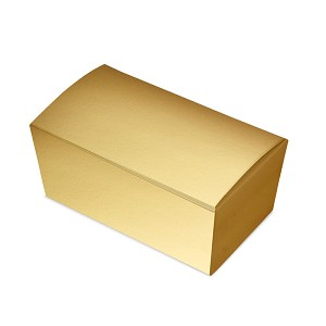 "BY THE PIECE, Folding Carton, Ballotin Box, Gold,  6"" L x 3-1/2"" W x 2-1/2"" D"
