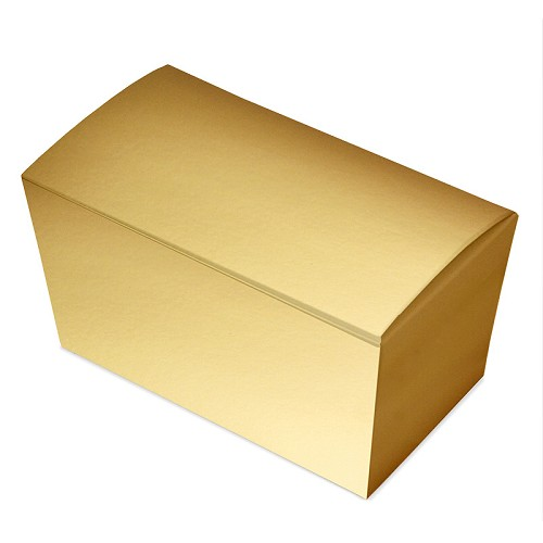 Ballotin Box, Metallic Gold, 6-3/4 x 3-3/4 x 3-1/2
