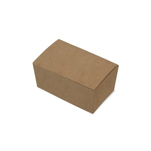 "BY THE PIECE, Folding Carton, Ballotin Box, Kraft, 4-1/4"" L x 2-1/2"" W x 1-7/8"" D"