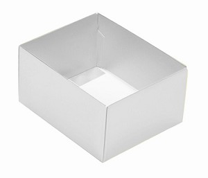 Folding Carton, This Top - That Bottom, Base, 4 oz., Rectangle, White, Double-Layer, QTY/CASE-50